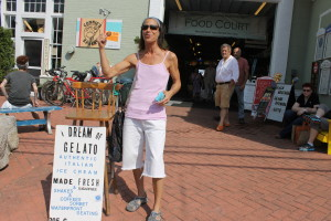 """Judy"" barks for I Dream of Gelato in Provincetown."