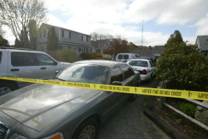 On the day of Shirley Reine's murder in May of 2005, police vehicles filled the driveway of her home.