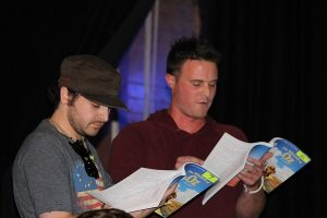 Keirnan McDermott and Bobby Price read the parts of the Scarecrow and the Wizard during the first read-through of the script.