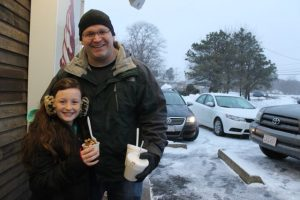 Getting ice cream was an adventure during a blizzard for