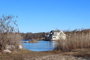 A small island in Salt Pond was built for the owner of an estate near by.