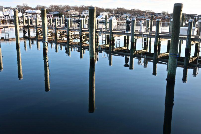 Reflection Falmouth Harbor