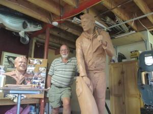 David Lewis in his studio