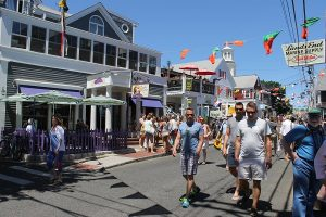 Commercial Street has always hosted a wide range of visitors to Provincetown.