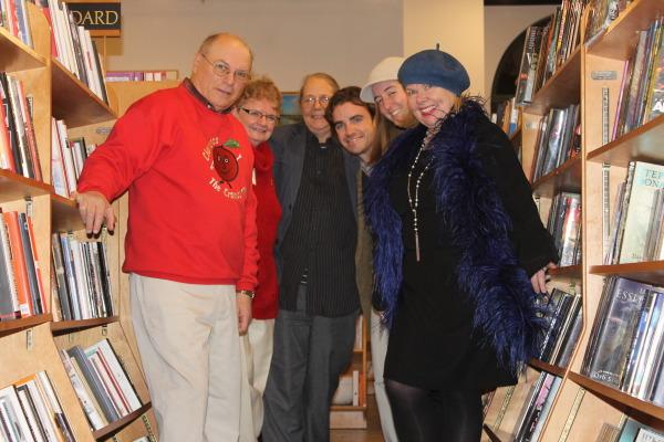 Local Authors gather at Market Street Bookshop. Left to Right: Jim Coogan, Terri Arthur, Bookshop owner Cynthia O'Brien, John Bonanni, Gemma Leghorn, and Jamie Cat Callan