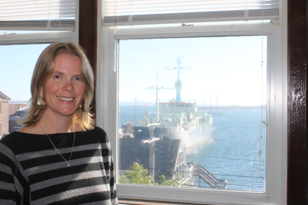 Julie Huber, MBL scientist, has a window on the world.