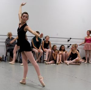 "Eloise Mills is one of two young dancers who will play the role of Clara in ""The Sea Captain's Nutcracker."""