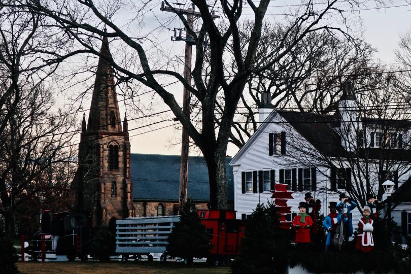 Two Falmouth Churches At Sunset