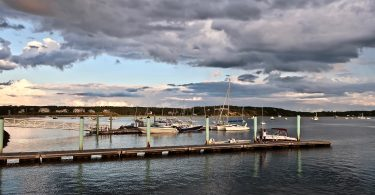 Wellflleet Harbor spectacular sky