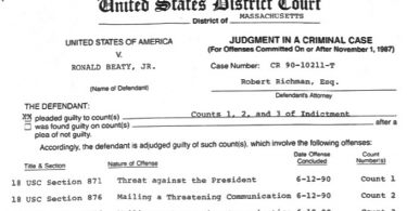 Ron Beaty's 1991 Court Case